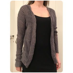 Grey Light Weight Loose Knit Cardigan